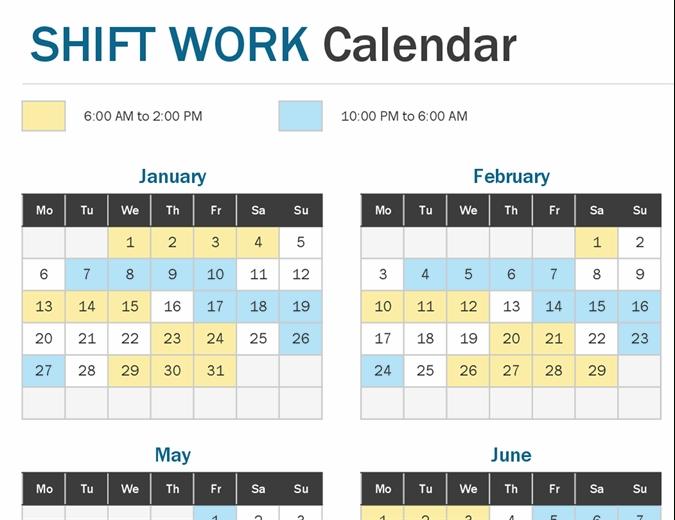Shift Work Calendar Year At A Glance-Calendar For Shift Work 2021