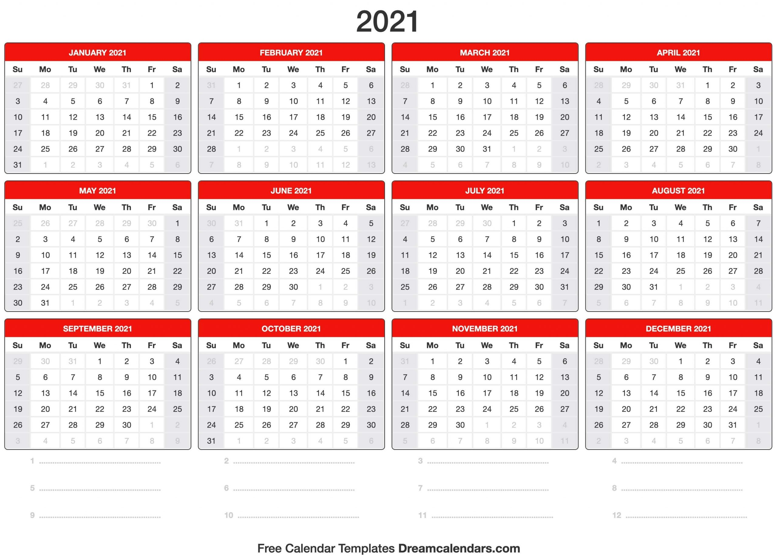 Terpopuler 39+ Kalender 2021-Festive Printable Calendar 2021