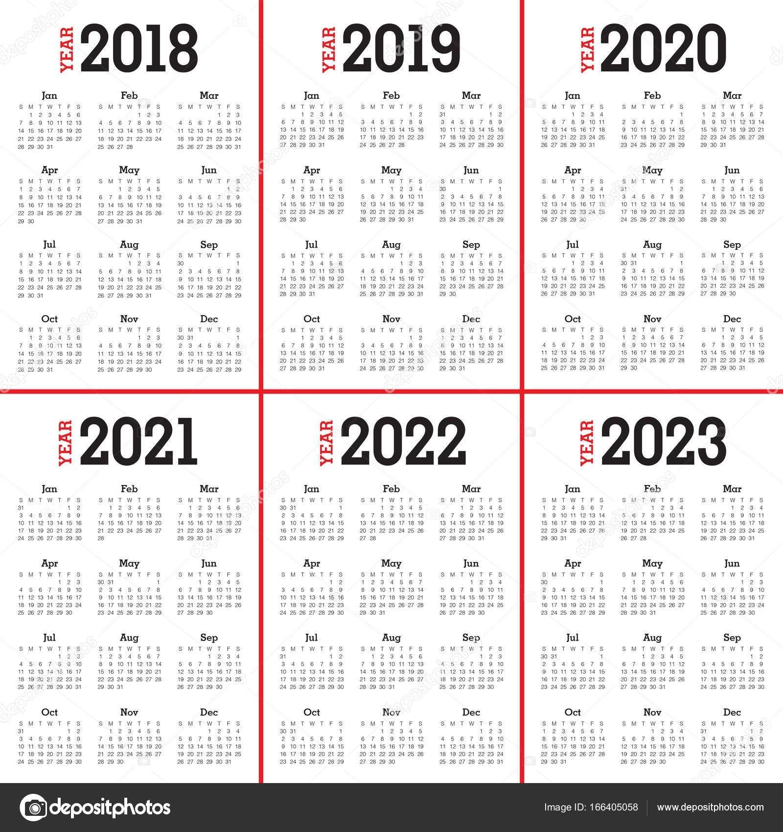 Three Year Calendar 2020 2021 2022   Calendar Printable Free-3 Year Calendar 2021