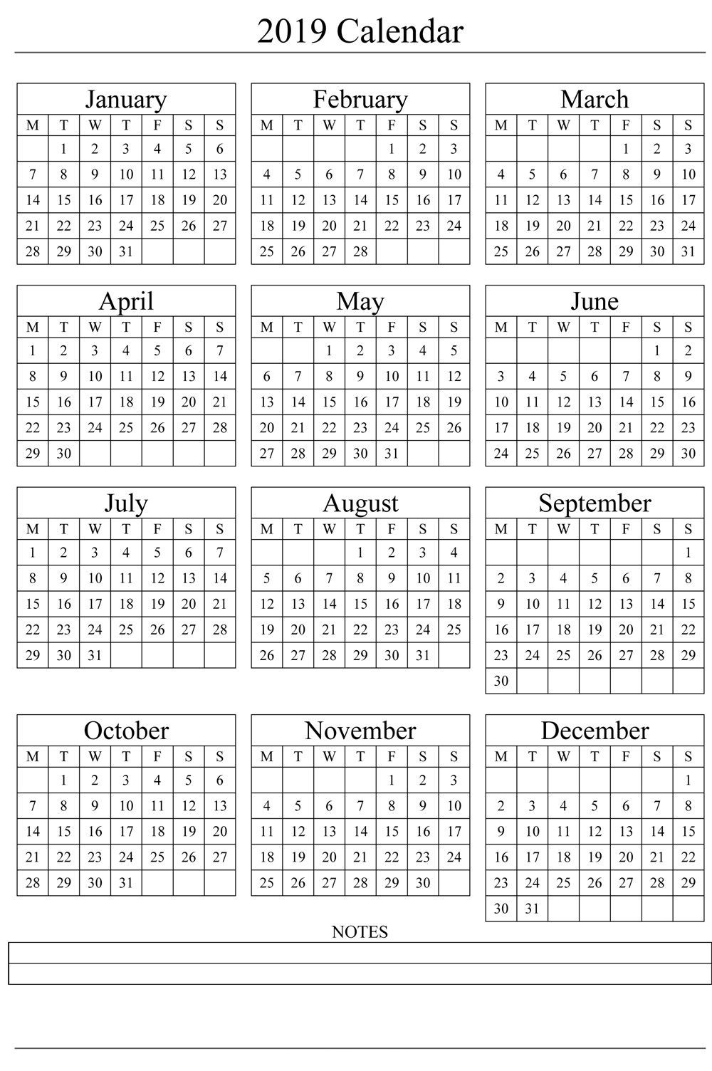 Year Calendar In One Page | Ten Free Printable Calendar 2020-2021-2021 Calendar To Fill In