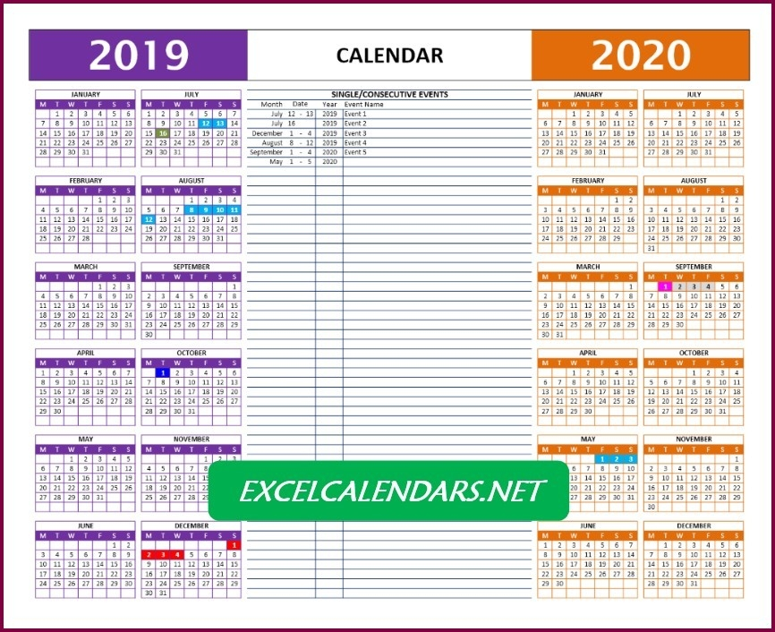 Yearly Calendar Templates For Year 2019 | 2020 | 2021 | 2022 » Excelcalendars-Shift Calendar 2021 Free