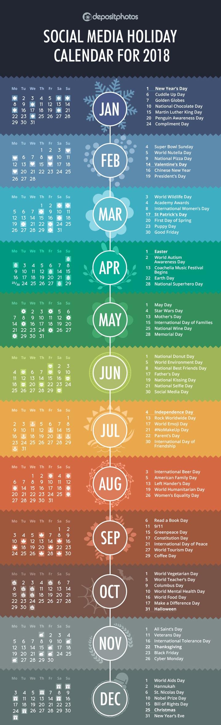 100+ Social Media Holidays You Need In 2020-21: Indispensable!-Printable Healthcare Awareness Calendar 2021