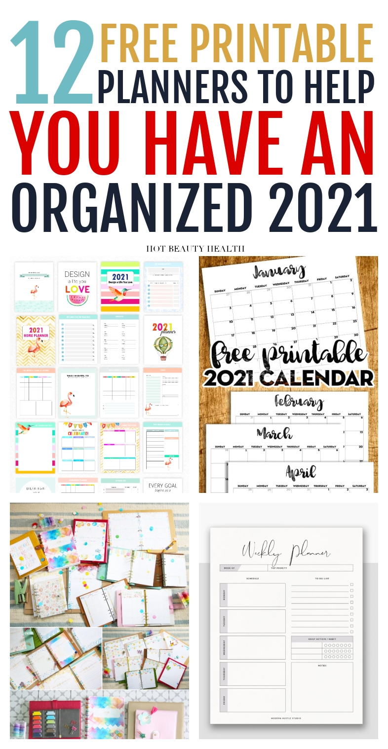 12 Free Printable Planners For 2021 To Organize Your Life-2021 Printable Bill Planner