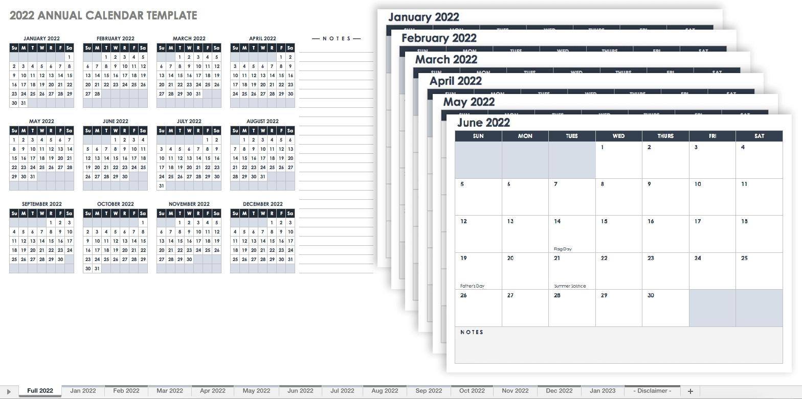 15 Free Monthly Calendar Templates   Smartsheet-Sundat To Saturday Printable Monthly Blank Calendar