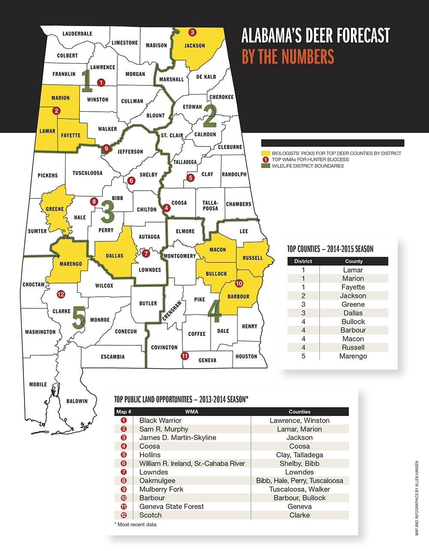 2015 Trophy Deer Forecast: Alabama-Alabama Rut Map 2021