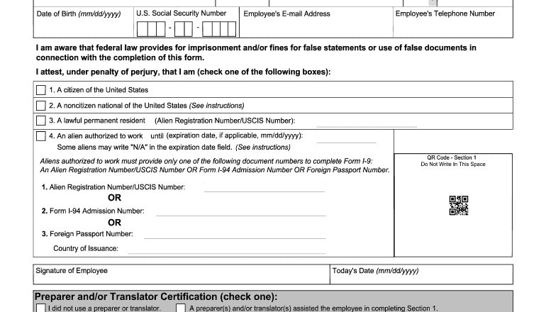2019-2021 Form Uscis I-9 Fill Online, Printable, Fillable-Free Printable I 9 Form 2021