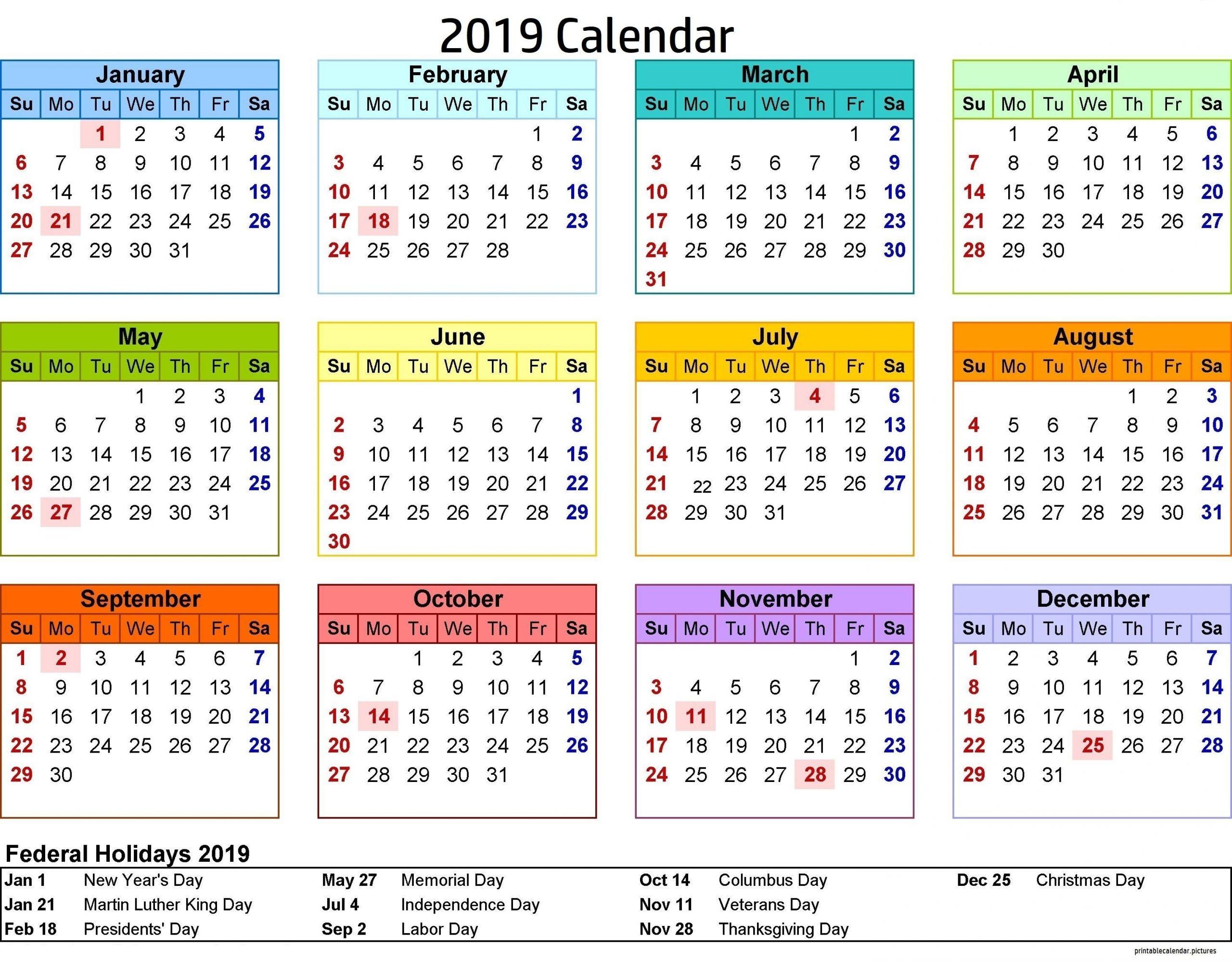 2019 Calendar Philippines With Holidays | Calendar 2019-Print Philippine 2021 Calendars With Holiday