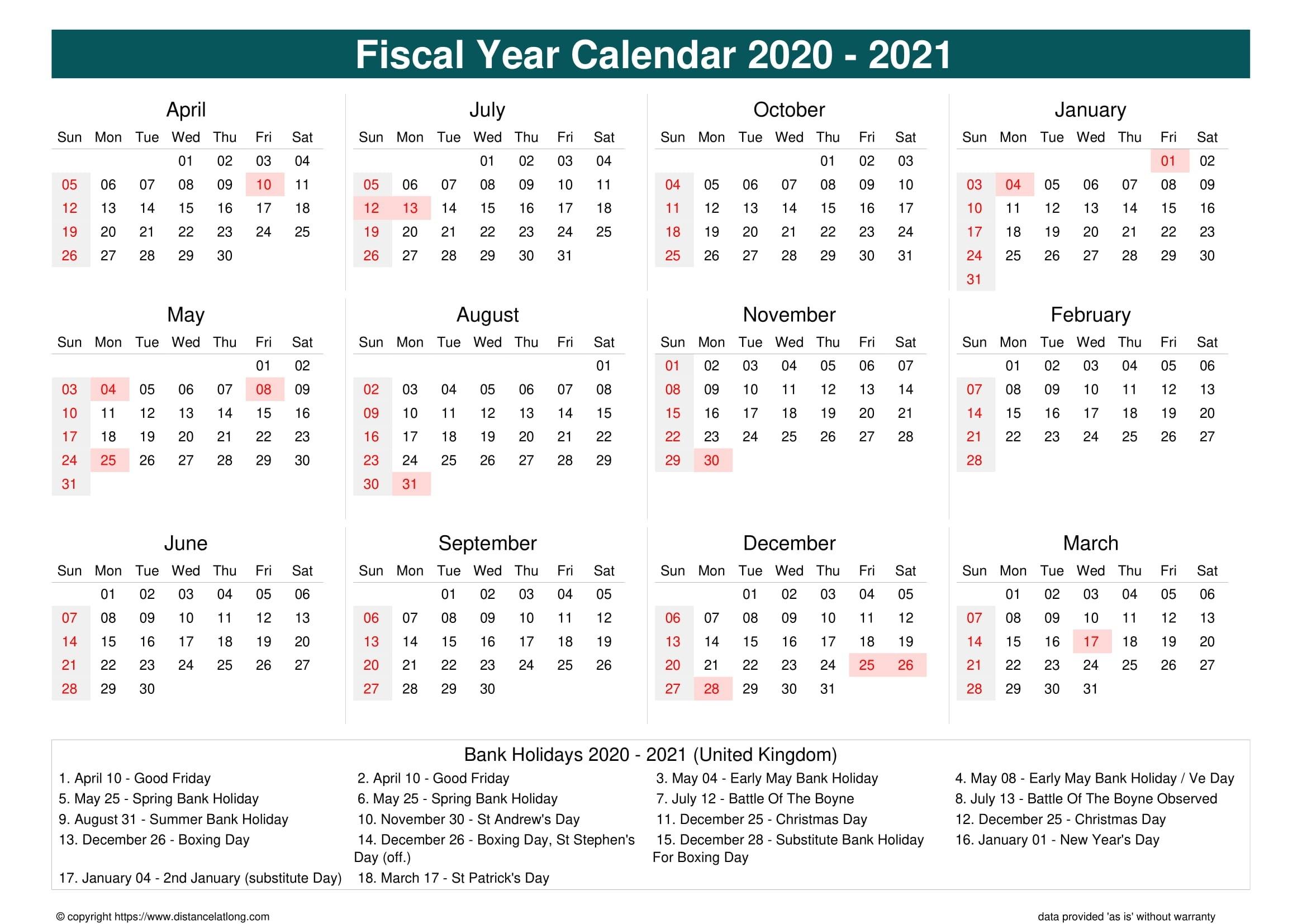 2019 Holiday Calendar Landscape Orientation Free Printable-Bank Holidays Calendar 2021