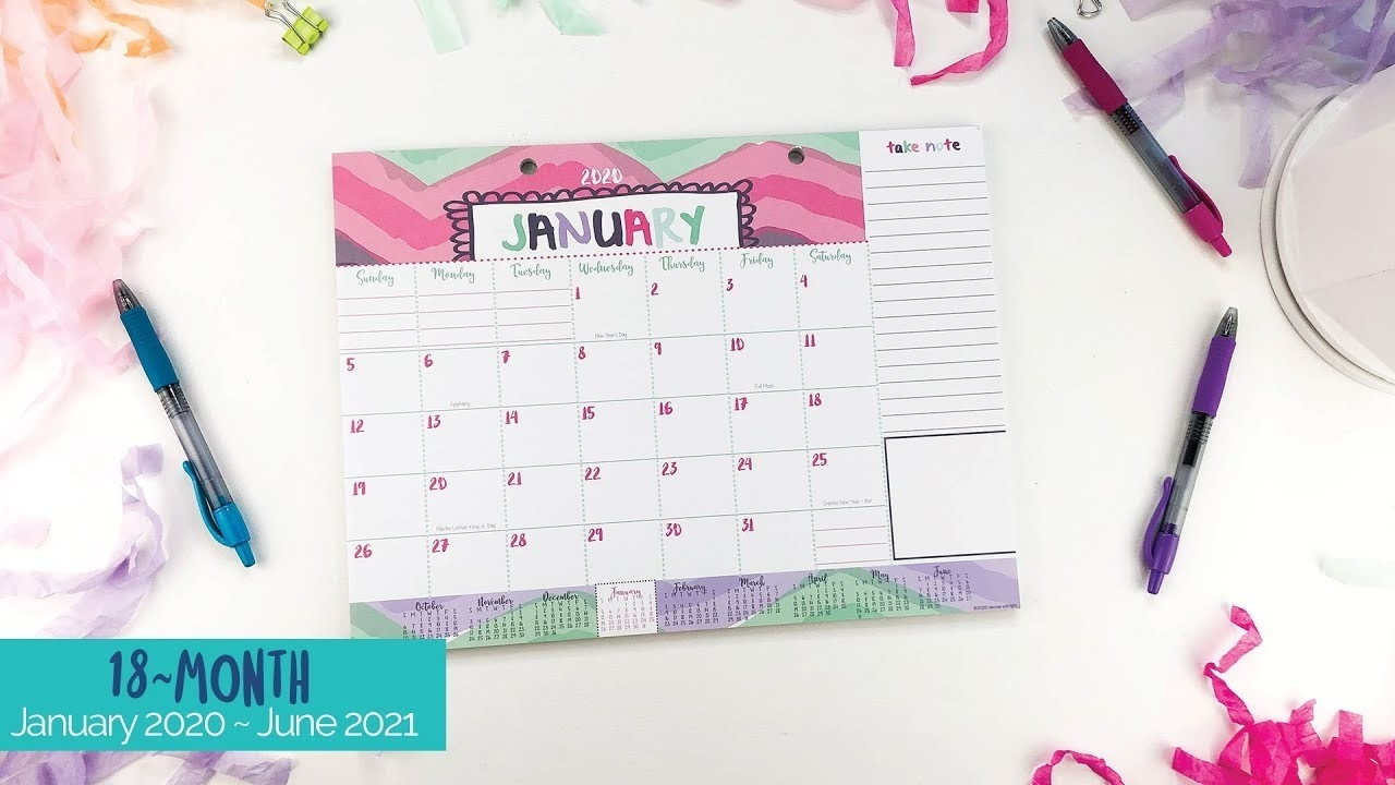 2020-2021 Mini Monthly Desk Calendar | January 2020 - June 2021 | Lists,  Bill Pay And More!-Bill Pay Calendar 2021