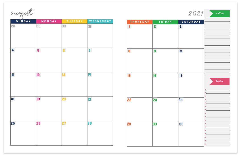 2020-2021 Monthly Calendar Planner   Free Printable Calendar-Printable Monthly Diaries 2021