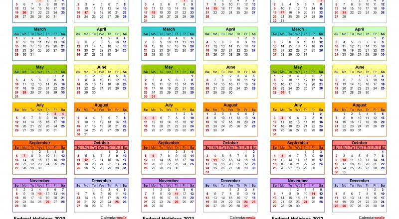 2020-2022 Three Year Calendar - Free Printable Excel Templates-Three Year Calendar 2021