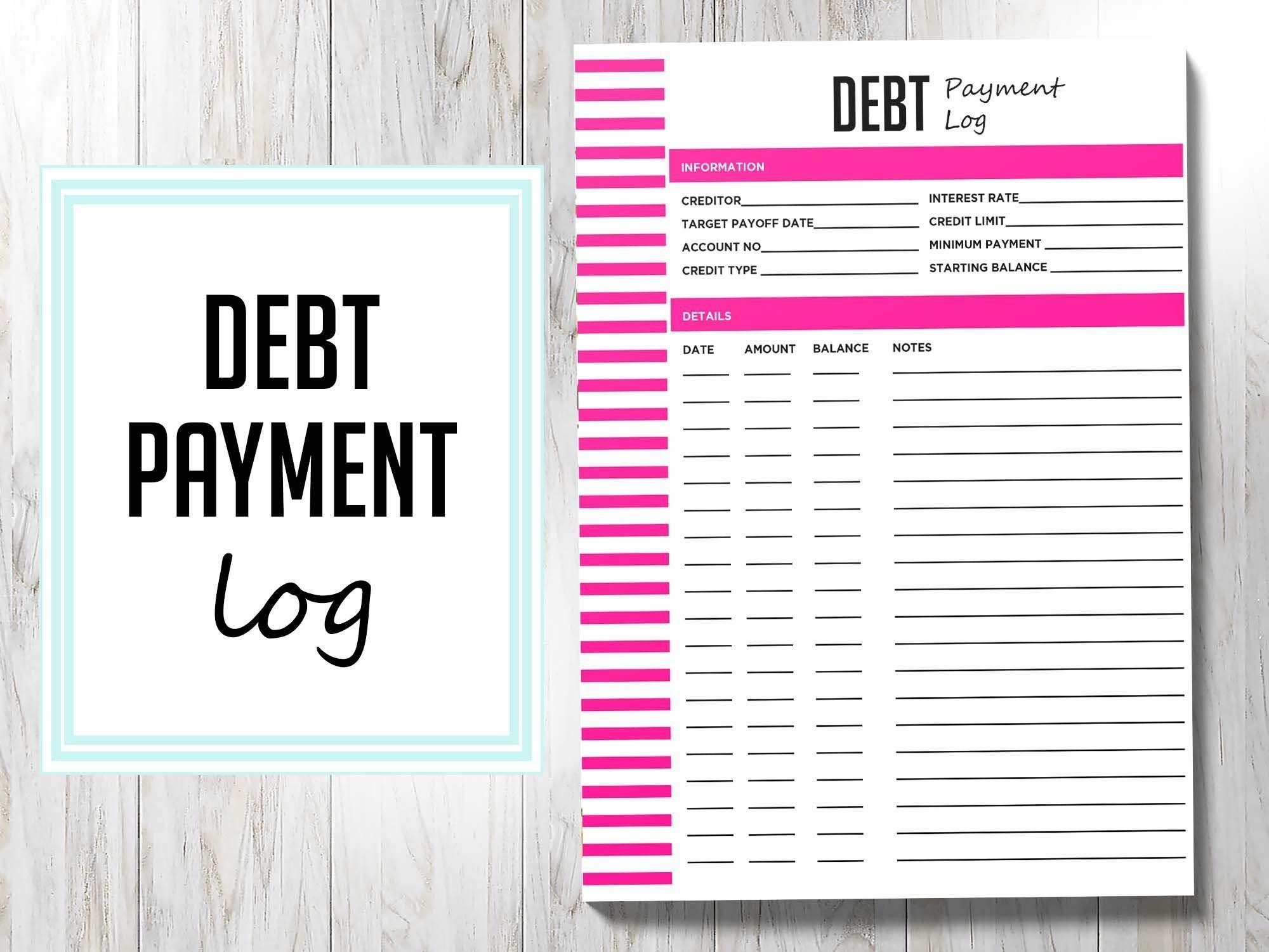 2021 A5 Debt Payment Log Planner Printable 2021 A5 Budget-2021 Printable Bill Planner