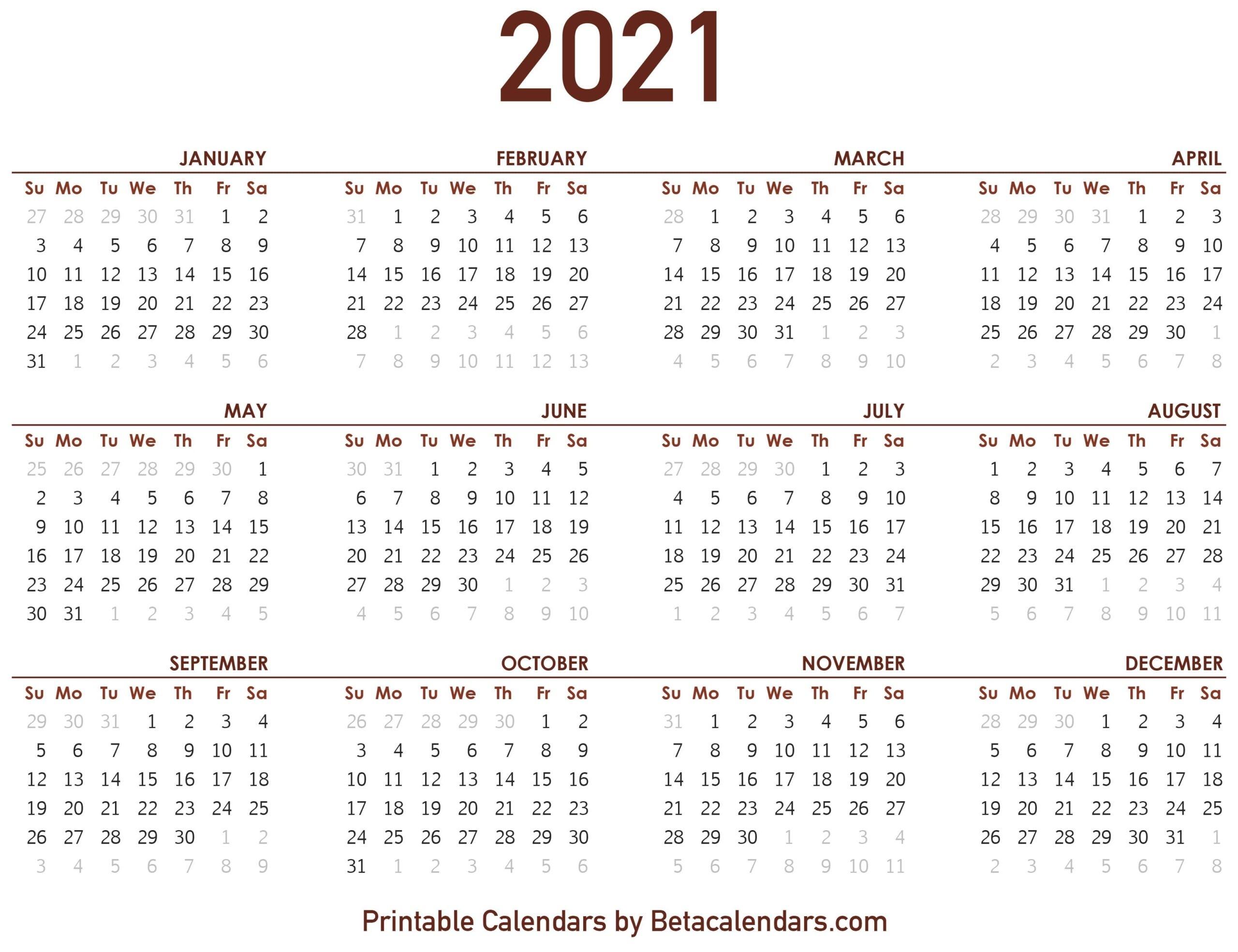 2021 Calendar - Beta Calendars-Online Calendar 2021