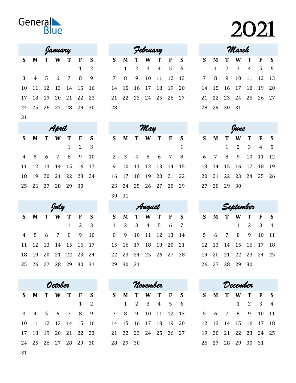 2021 Calendar (Pdf, Word, Excel)-Download 2021 Philippine Blank Calendar In Excel