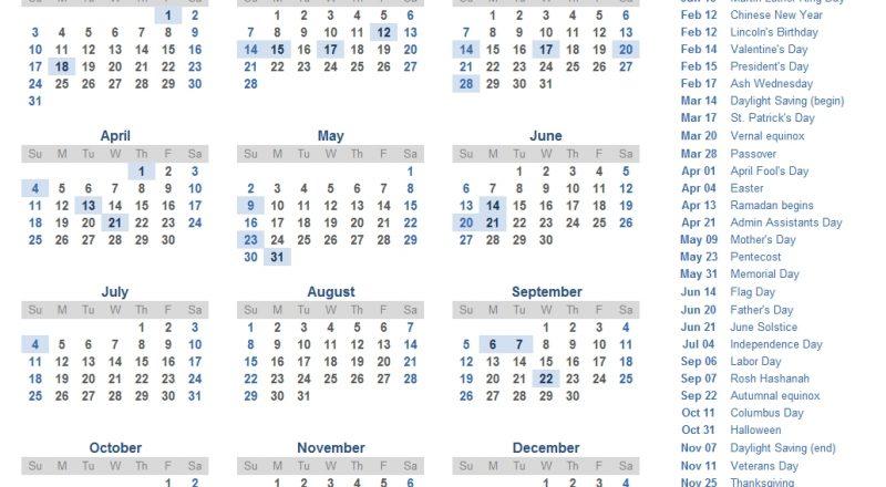 2021 Calendar Templates And Images-2021 Vacation Calandar