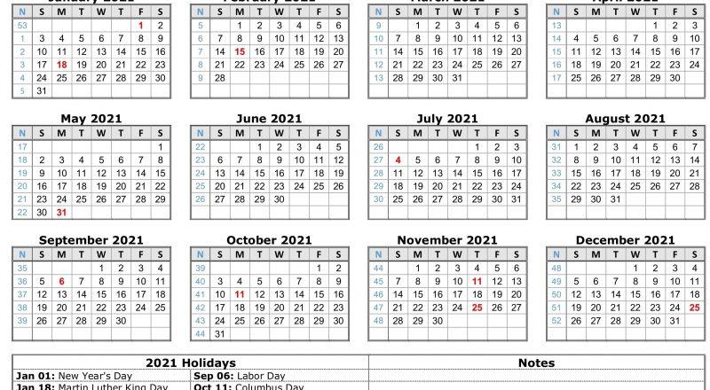 2021 Calendar With Holidays | Free Calendar Template-Employee Calendar Template 2021