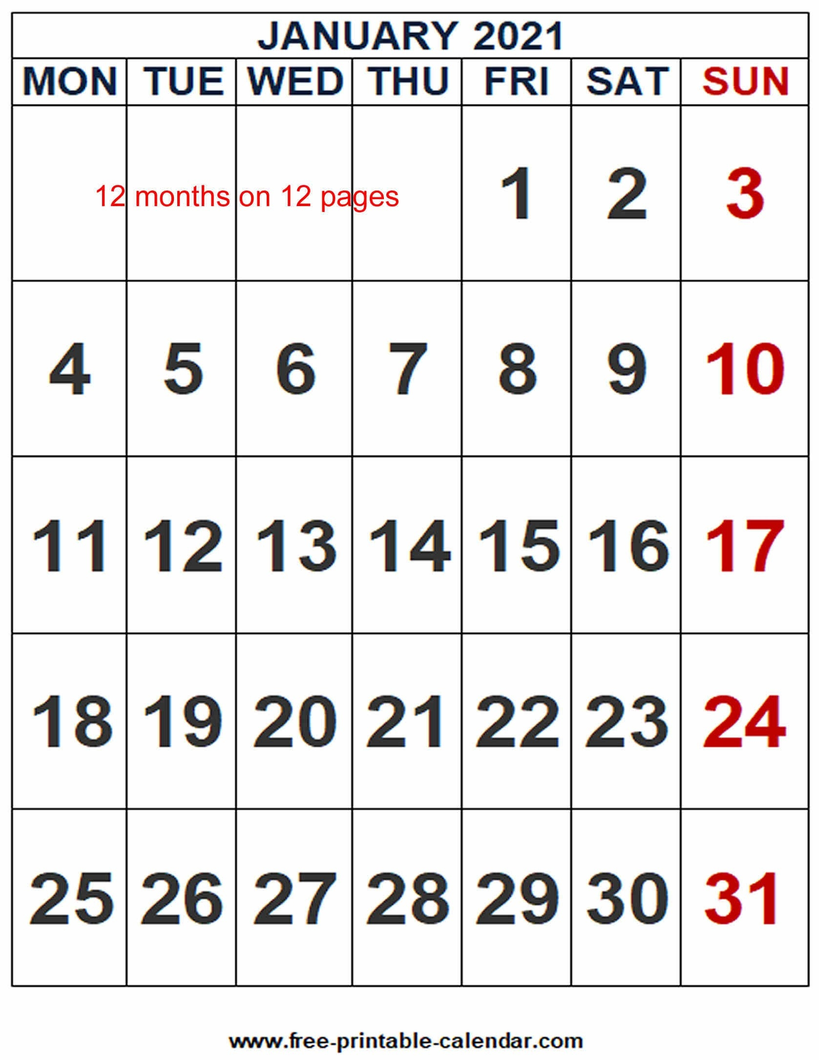 2021 Calendar Word Template - Free-Printable-Calendar-Edit October 2021 Ms Word