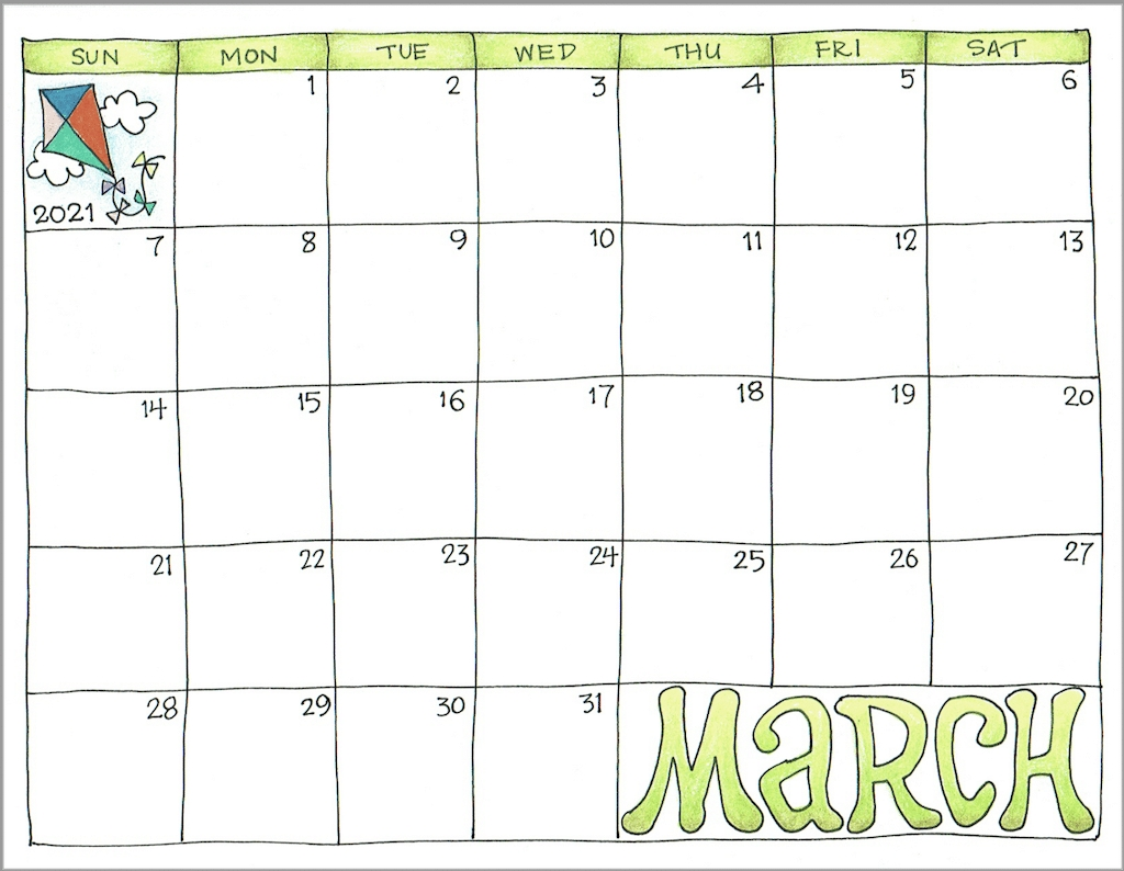 2021 Calendars For Advanced Planning - Flanders Family Homelife-Free Monthly Calendar Printable 2021