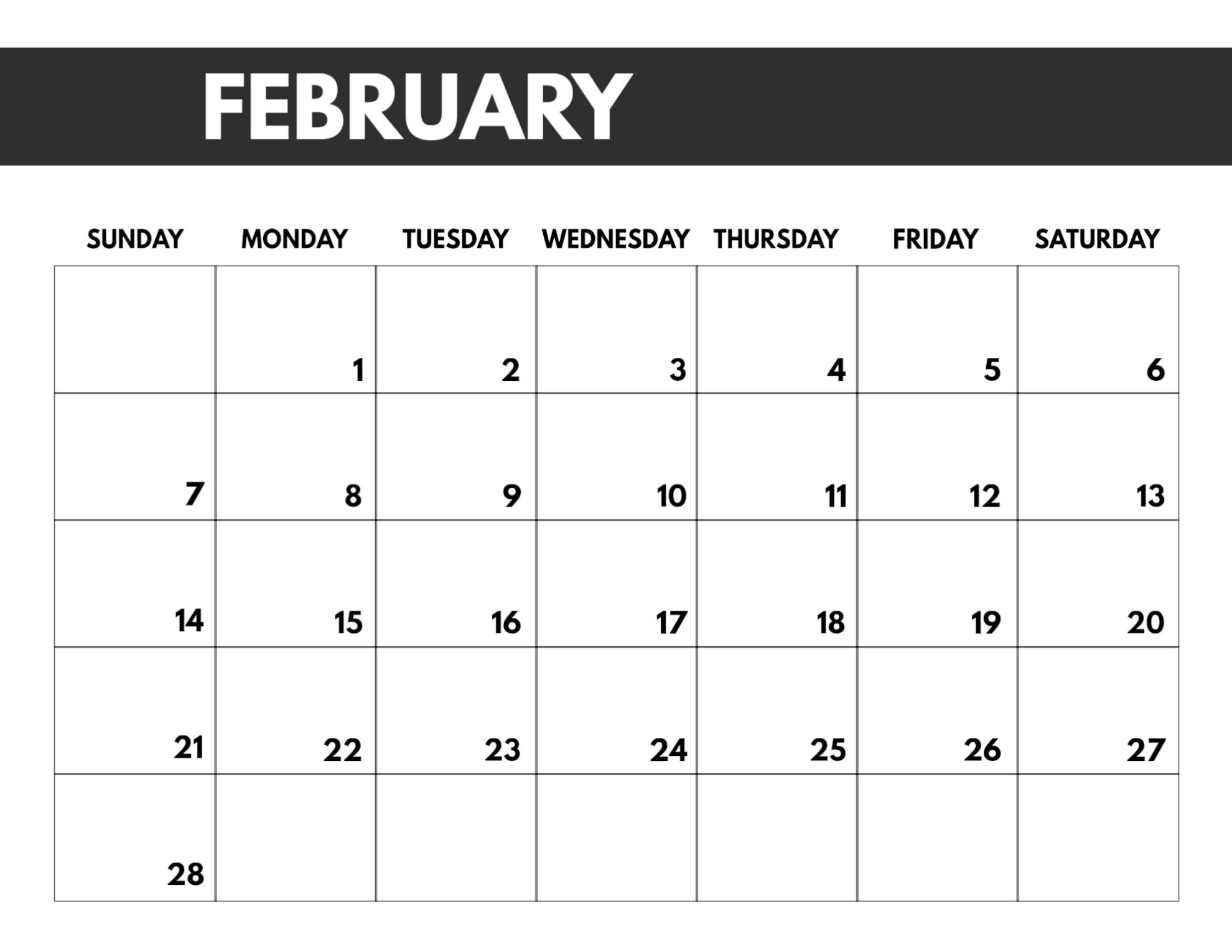 2021 Free Monthly Calendar Templates | Paper Trail Design-2021 Monthly Calendar Printable 2 Page