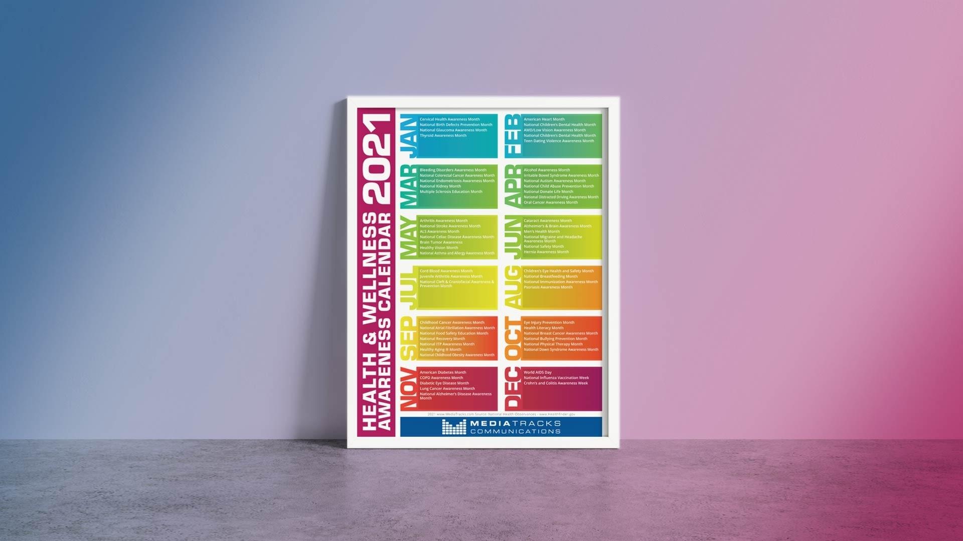2021 Health & Awareness Calendar Mediatracks | 5Th Annual-Printable Healthcare Awareness Calendar 2021