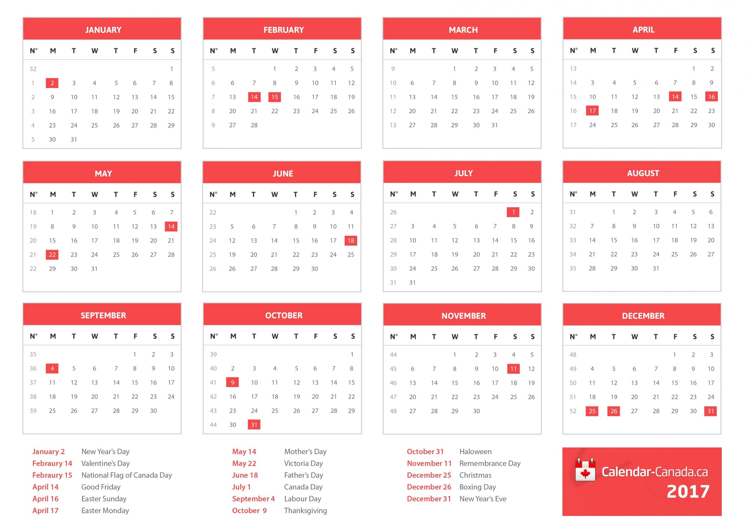 2021 Holidays Canada - Statutory, National & Local Holidays-2021 Vacation Schedule