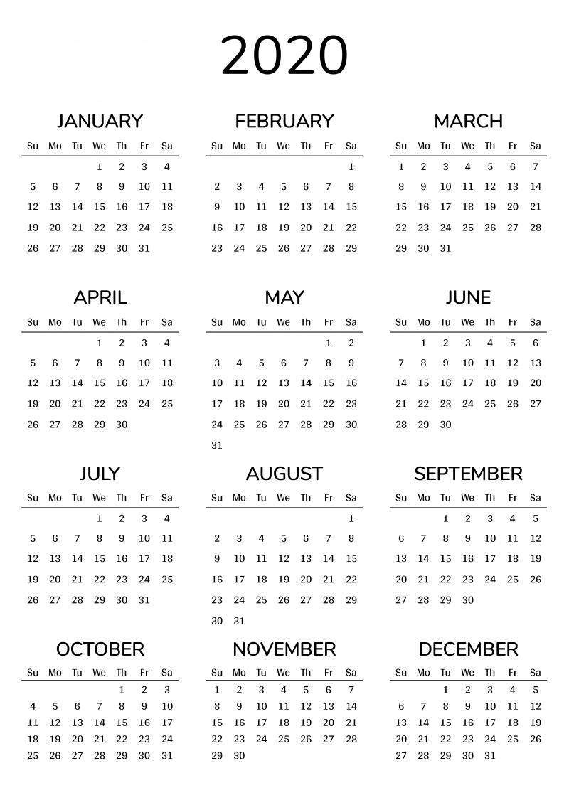 2021 Printable Calendar-4 Inch By 7 Inch 2021 .Pdf Calendar