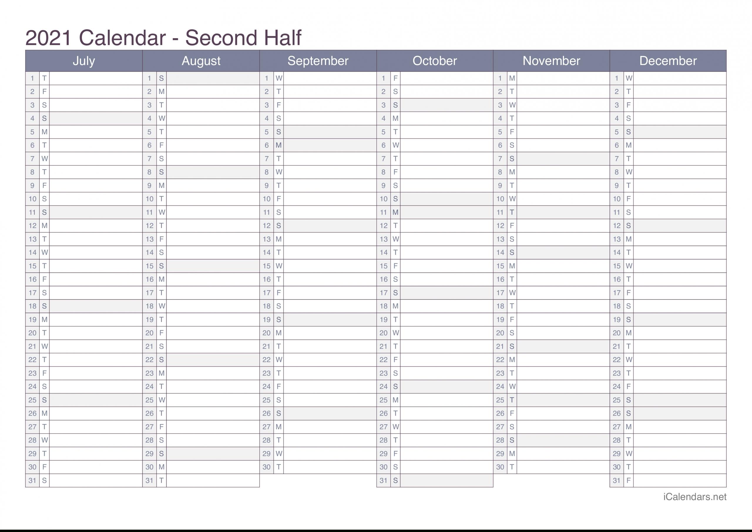 2021 Printable Calendar - Pdf Or Excel - Icalendars-2021 Year Calendar Printable