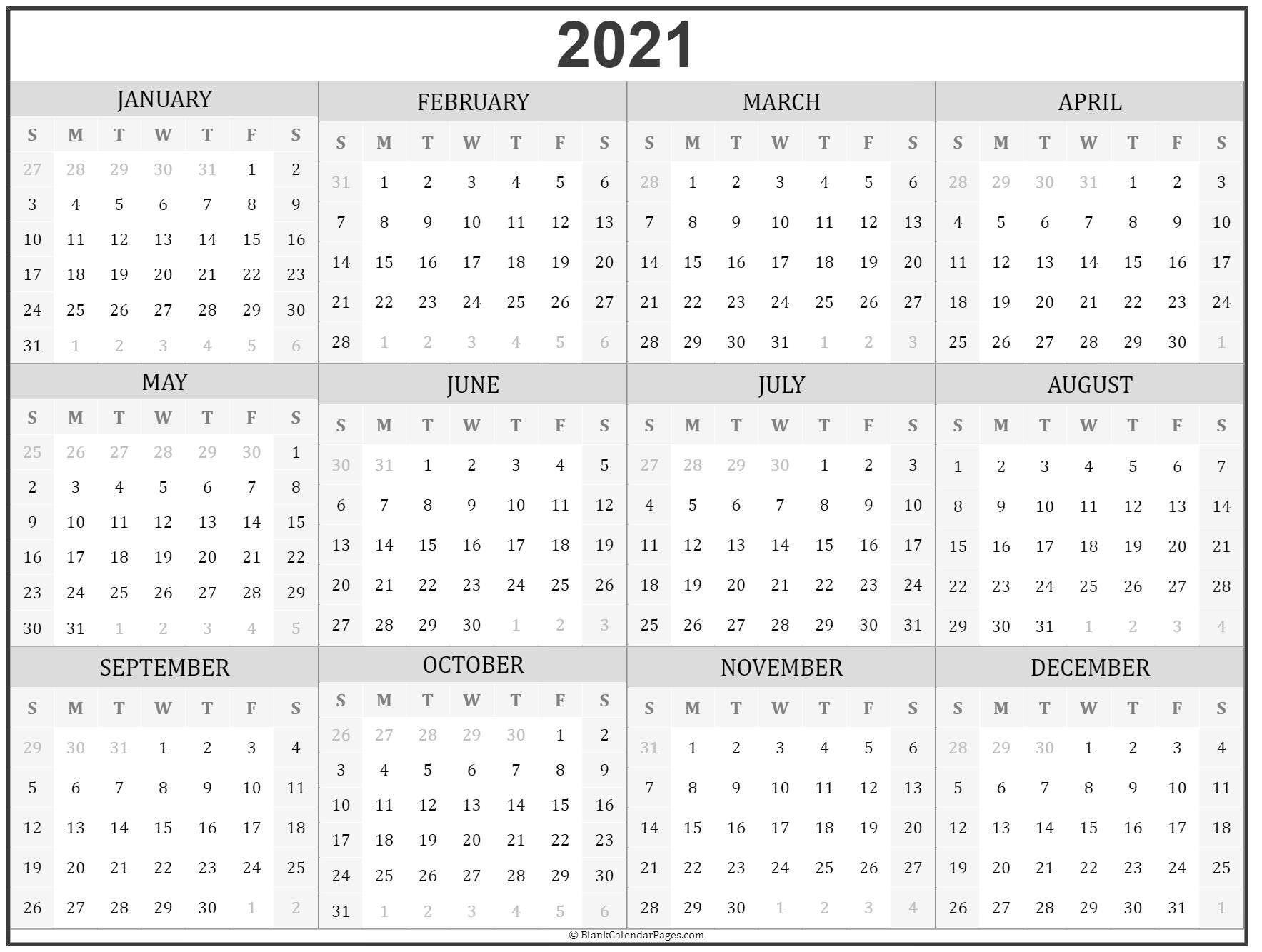 Microsoft Calendar Templates 2021 2 Page Per Month ...
