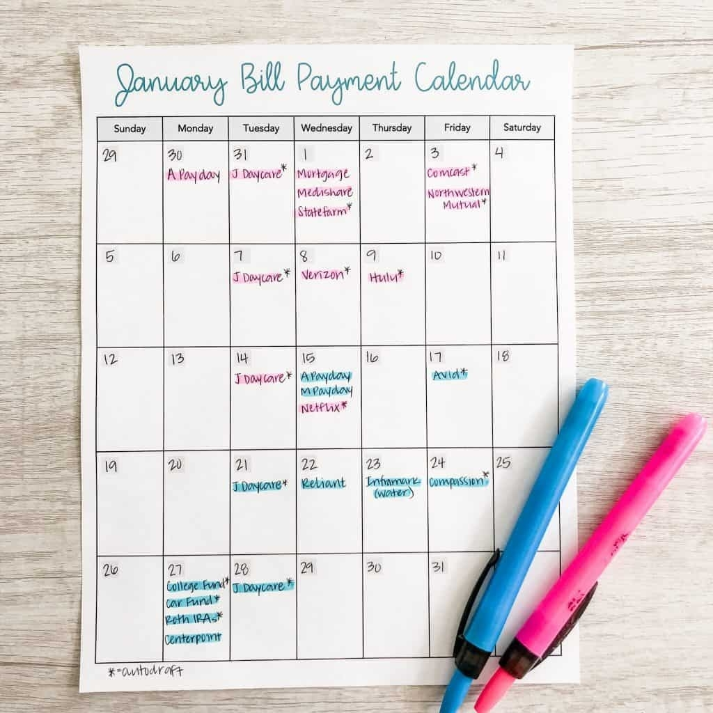 5 Steps To Write A Biweekly Budget In 2021 - Inspired Budget-Bill Pay Calendar 2021