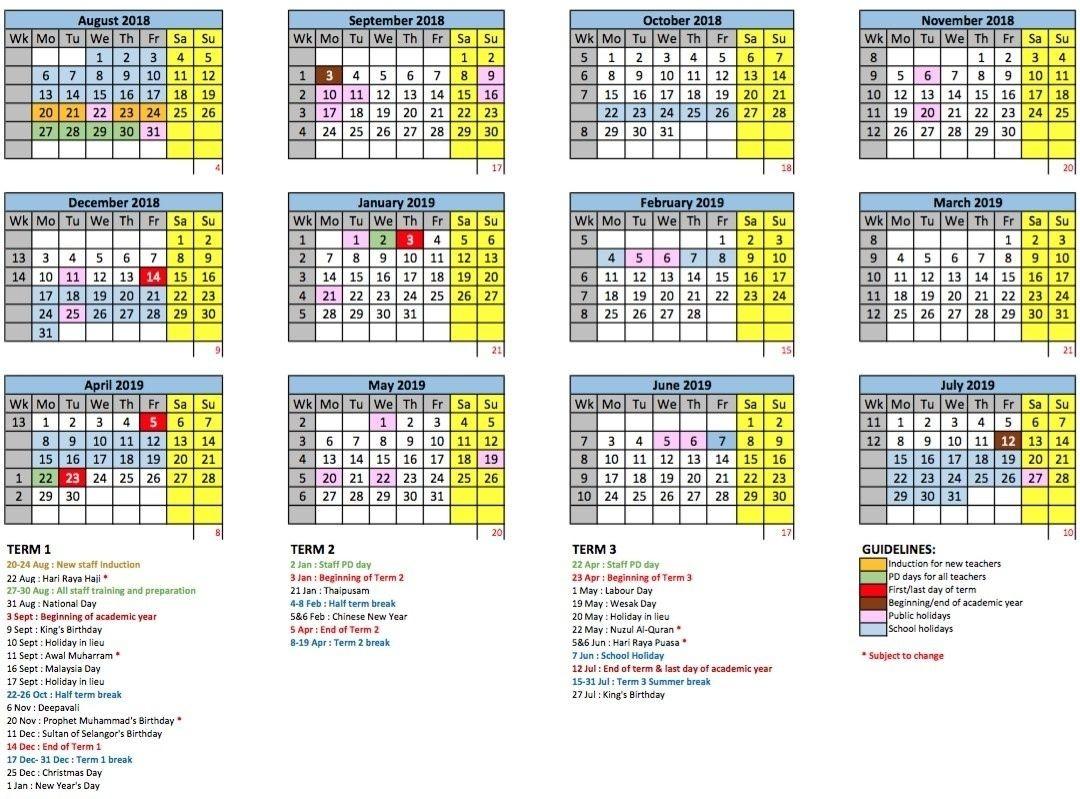 Academic Year Calendar - Gems International School-2021 School Holiday Calender