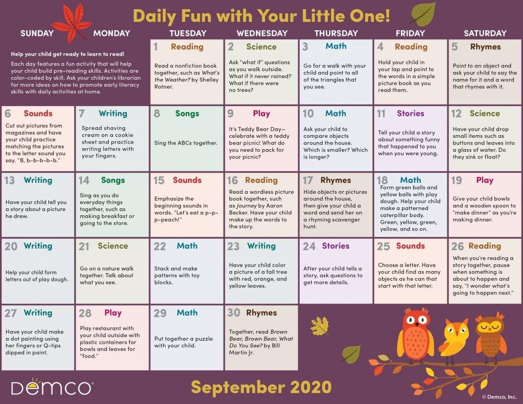Activity Calendar Archives - Ideas & Inspiration From Demco-2021 Activity Calendar Printable