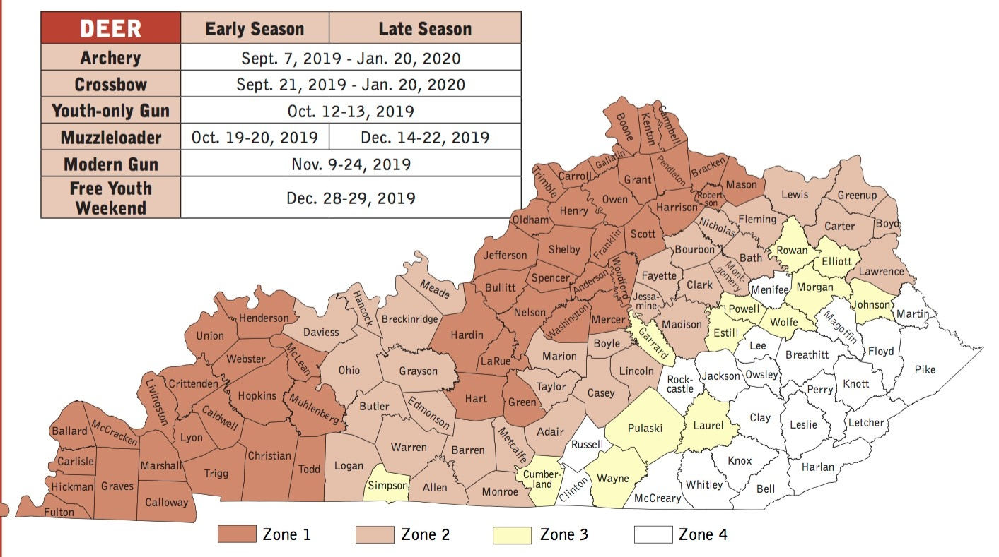 Art Lander'S Outdoors: Ky'S 2019-2020 White-Tailed Deer-2021 Whitetail Rut Prediction In Kentucky