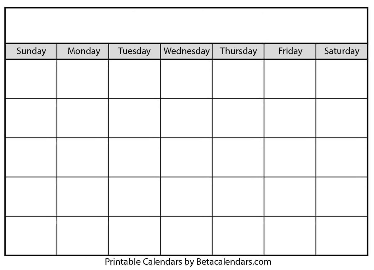 Blank Calendar 2021   Free Blank Printable Templates-Sundat To Saturday Printable Monthly Blank Calendar