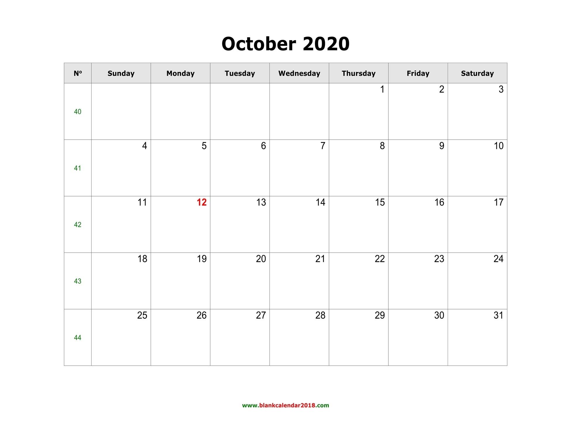 Blank Calendar For October 2020-Edit October 2021 Ms Word