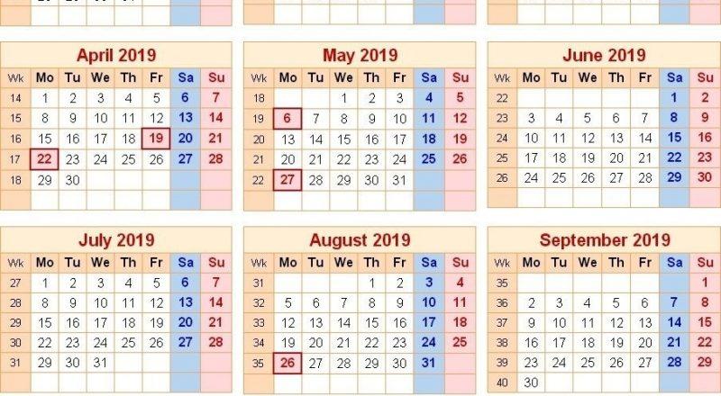 Calendar 2019 Uk With Bank Holidays | Printable Calendar-Bank Holidays Calendar 2021