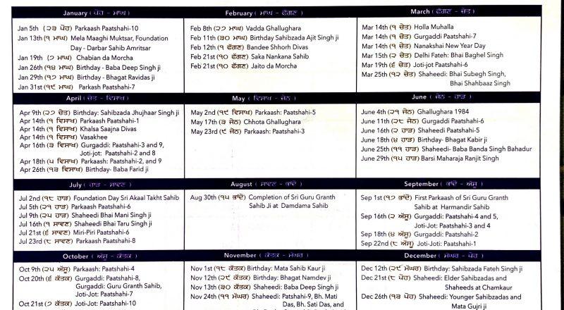 Calendar 2020-2021 – Mool Nanakshahi Calendar-Nanaksahi Calander 2021