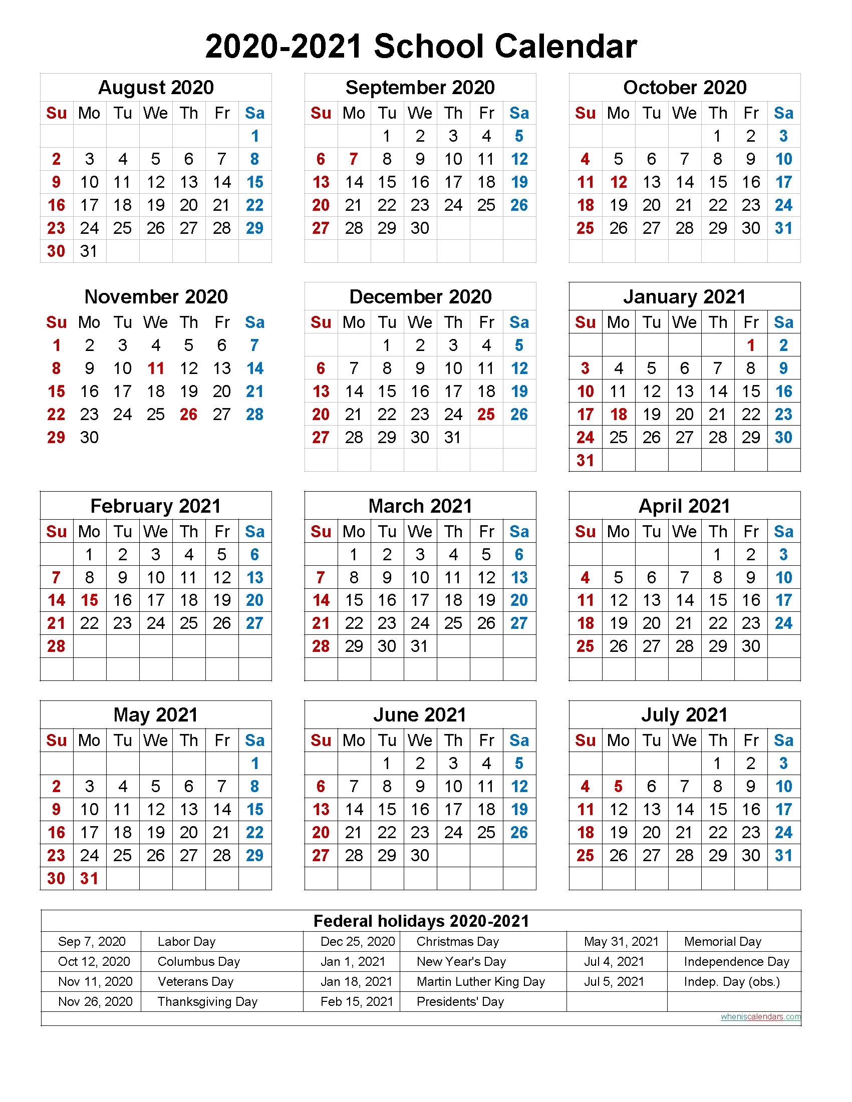 Calendar With School Holidays 2021-2021 School Holiday Calender