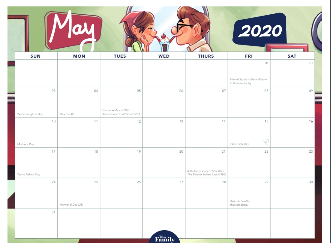 Countdown To Your 2020 Disney Getaway With This Awesome-Calendar May 2021 Free Printables With Mickey Mouse
