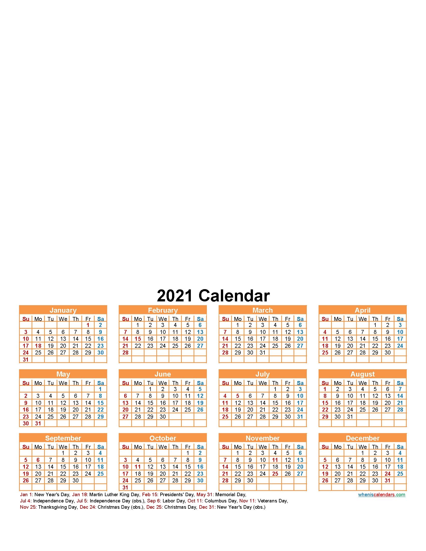 Create Your Own Photo Calendar Online Free 2021 - Template-Online Calendar 2021