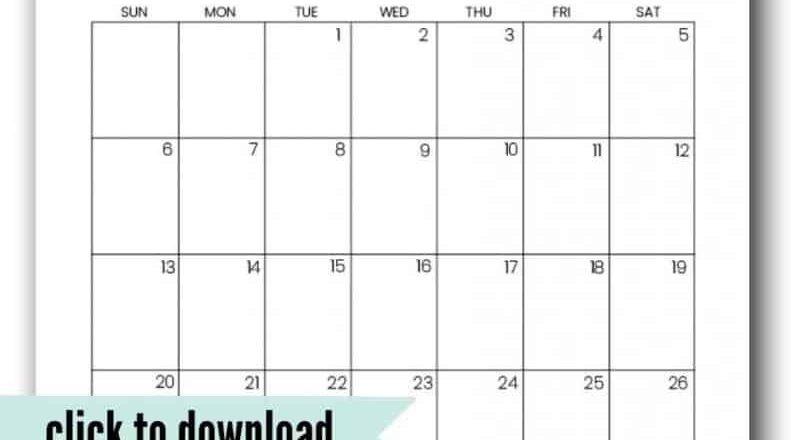 Cute 2021 Printable Calendar (12 Free Printables)-Calander 2021 June For Bills