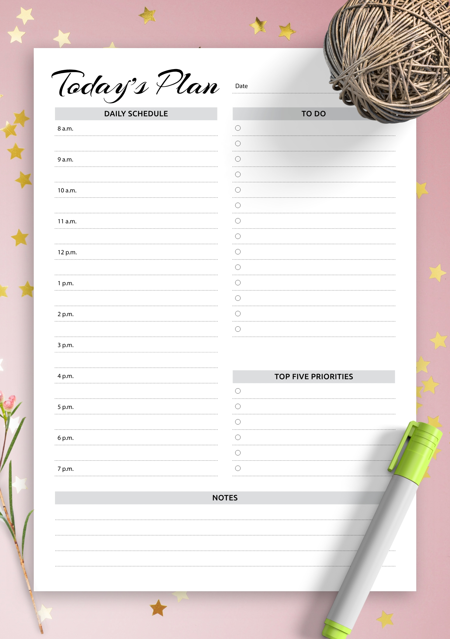 Download Printable Daily Planner With Hourly Schedule & To-Calendar January 2021 Hourly Daily Task List Template