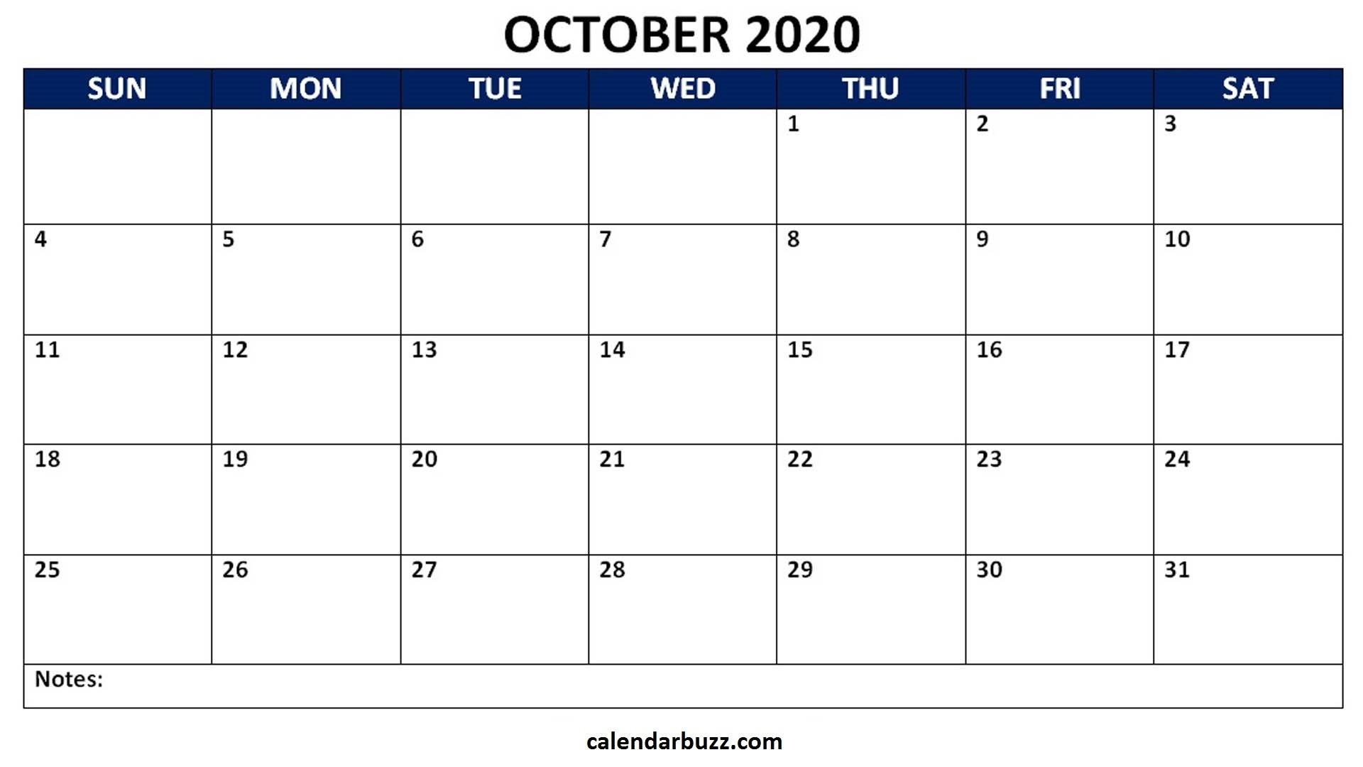 Editable October 2020 Word Calendar Template Free Download-Edit October 2021 Ms Word