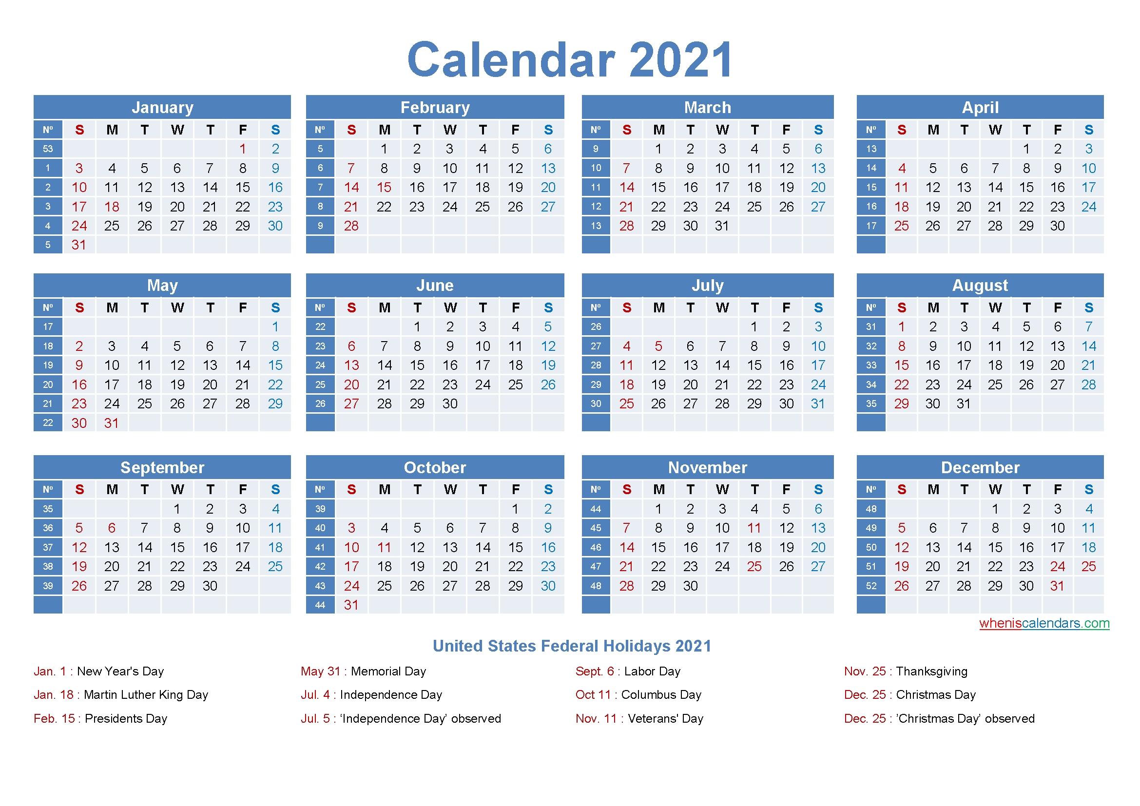 Editable Printable Calendar 2021 Word - Template No.ep21Y8-Microsoft Printable Calendars 2021