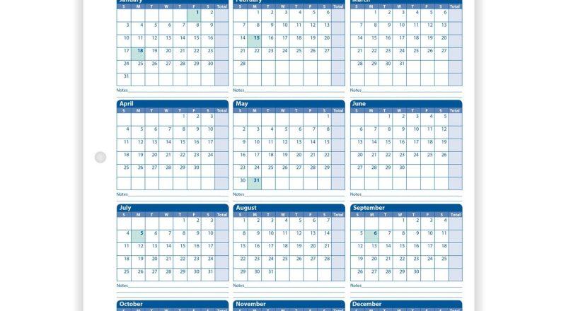 Employee Attendance Calendar-Printable 2021 Atteance Calendar