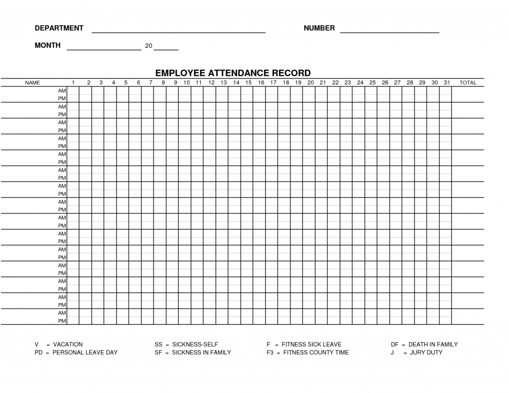 Employee Monthly Attendance Sheet | Attendance Tracker-Attendance Sheet Template For 2021