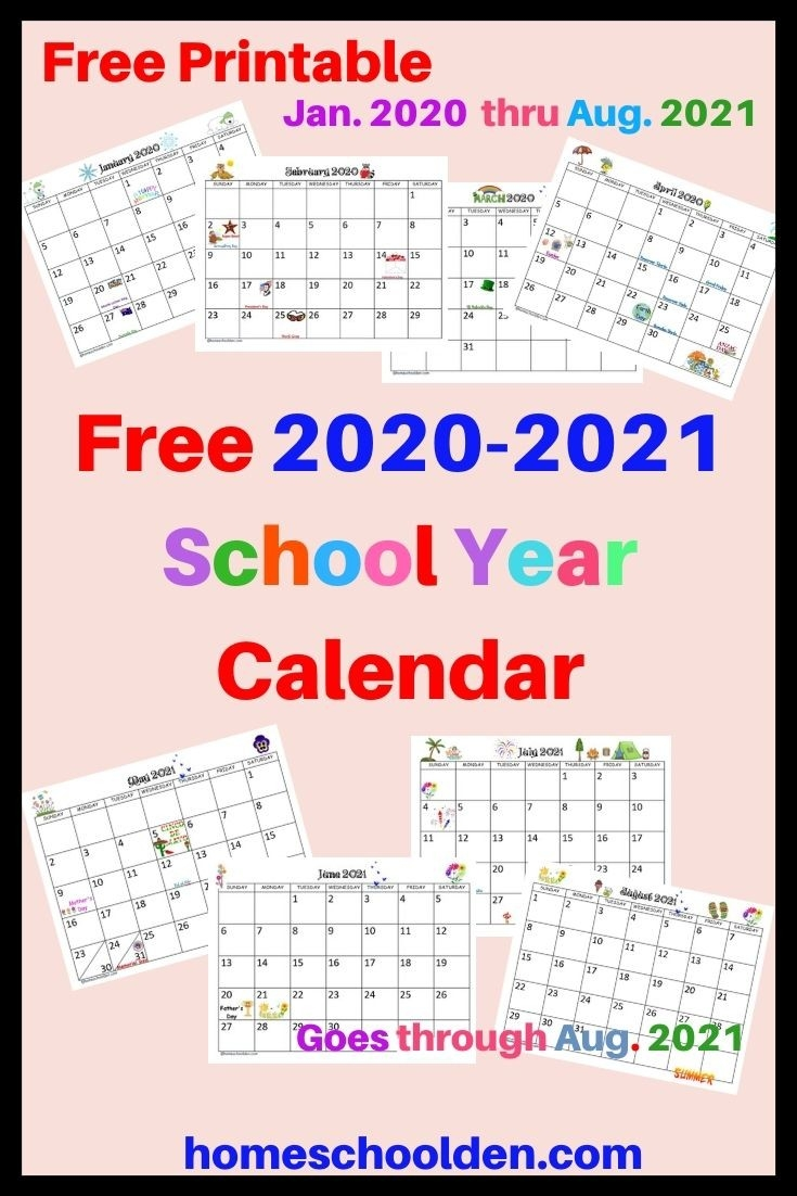 Free 2020-2021 Calendar Printable | School Calendar-2021 Activity Calendar Printable