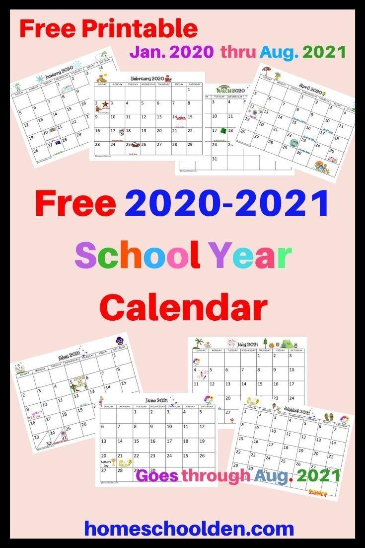 Free 2020-2021 Calendar Printable | School Calendar-Activity Calendar 2021 To Fill In