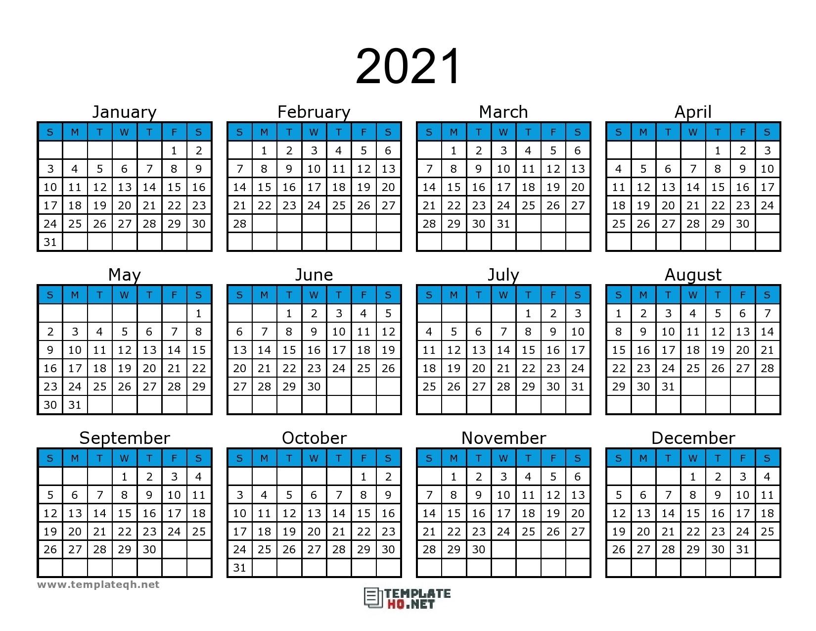 Free 2021 Calendar Printable - Template Hq-Free Printable I 9 Form 2021