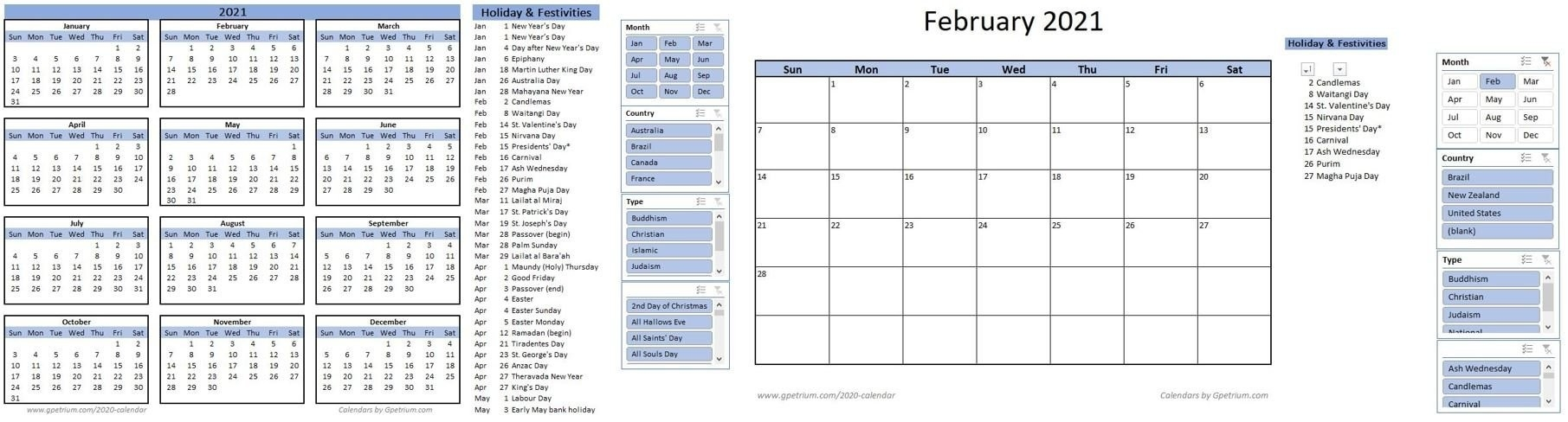 Free 2021 Calendar Template In Excel – Gpetrium-2021 Vacation Speadsheet