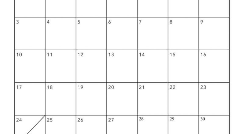 Free 2021 Printable Calendar Template (2 Colors!) - I Heart-2021 Fill In Calendar Template